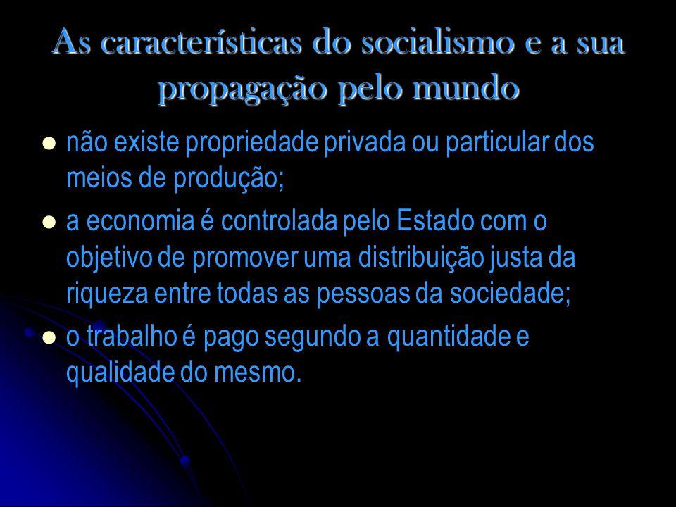 As características do socialismo e a sua propagação pelo mundo