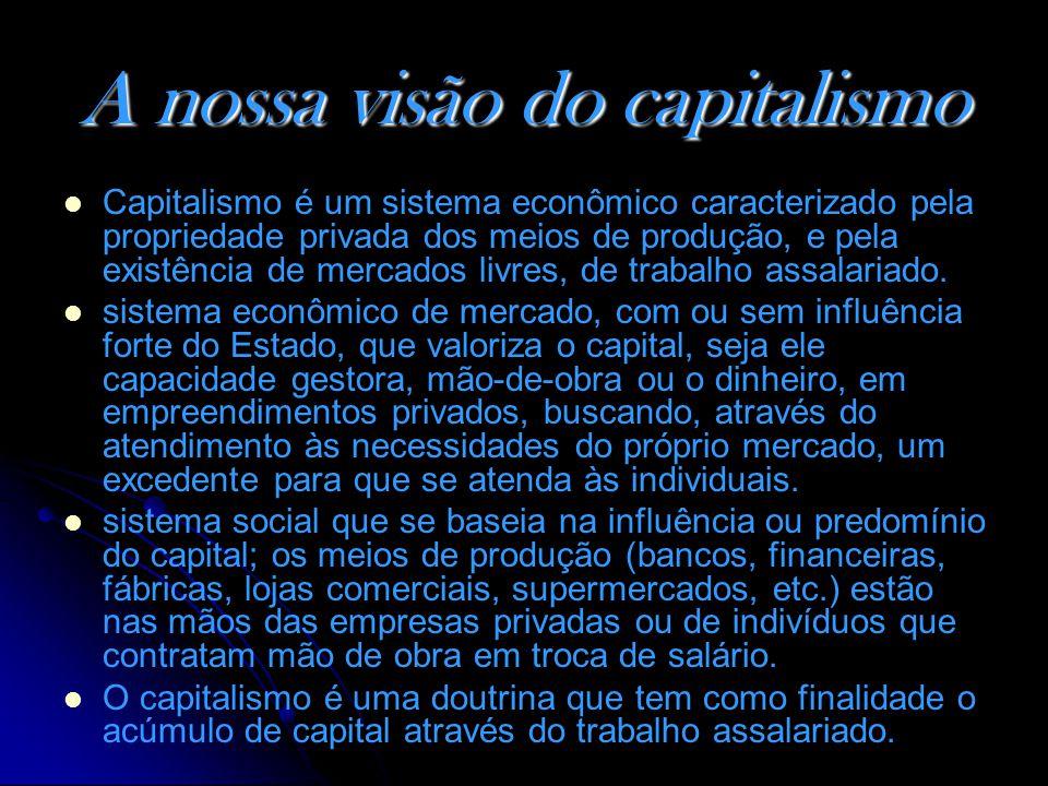 A nossa visão do capitalismo
