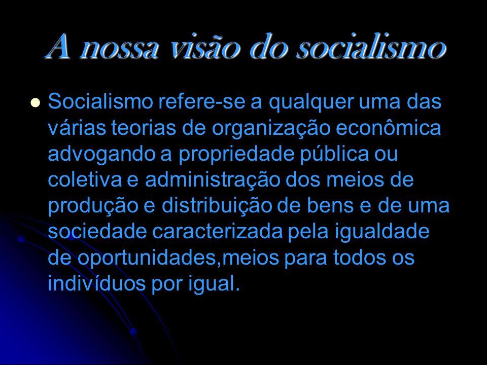 A nossa visão do socialismo
