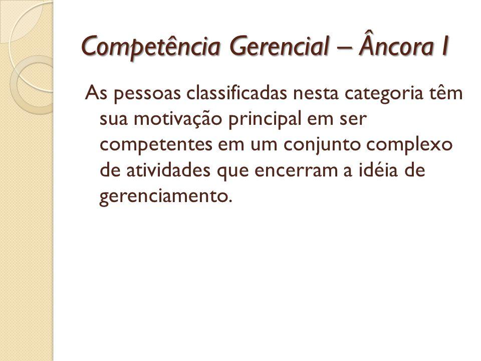 Competência Gerencial – Âncora I
