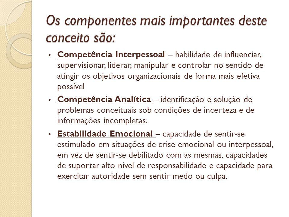 Os componentes mais importantes deste conceito são: