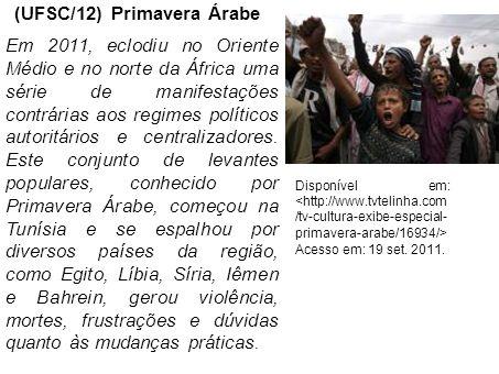 (UFSC/12) Primavera Árabe