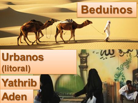 Beduinos Urbanos (litoral) Meca Yathrib Aden