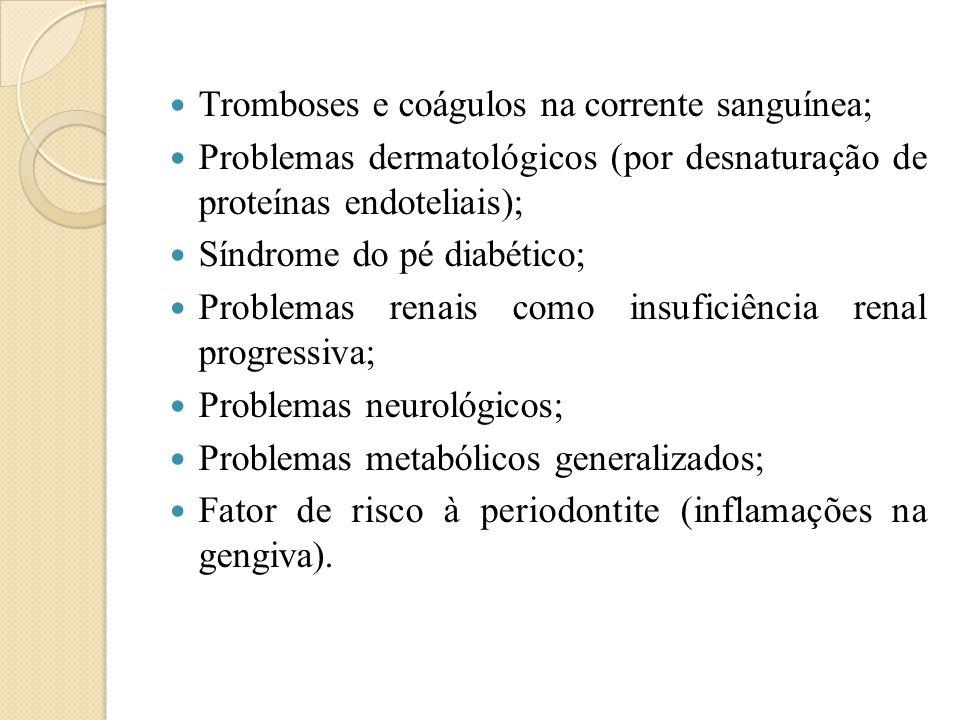 Tromboses e coágulos na corrente sanguínea;