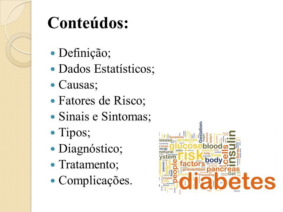 Conteúdos: Definição; Dados Estatísticos; Causas; Fatores de Risco;