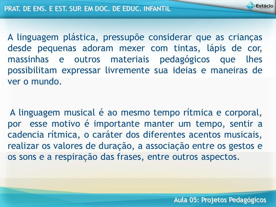PRAT. DE ENS. E EST. SUP. EM DOC. DE EDUC. INFANTIL