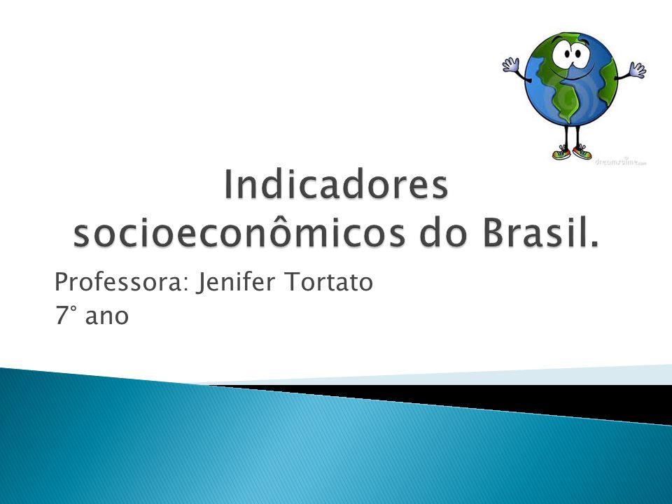 Indicadores socioeconômicos do Brasil.