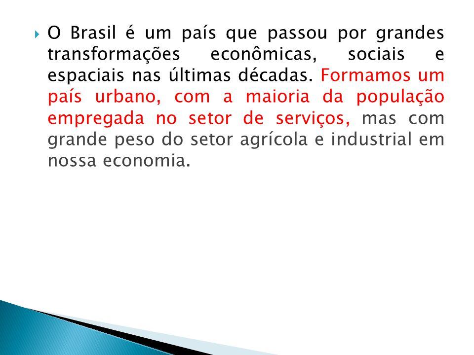 O Brasil é um país que passou por grandes transformações econômicas, sociais e espaciais nas últimas décadas.
