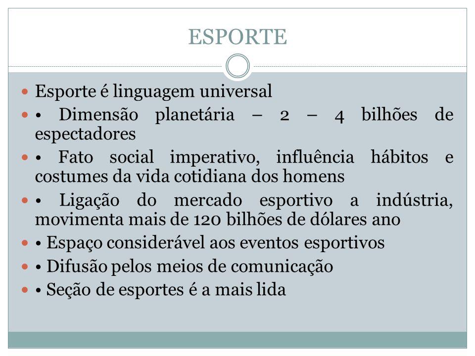 ESPORTE Esporte é linguagem universal
