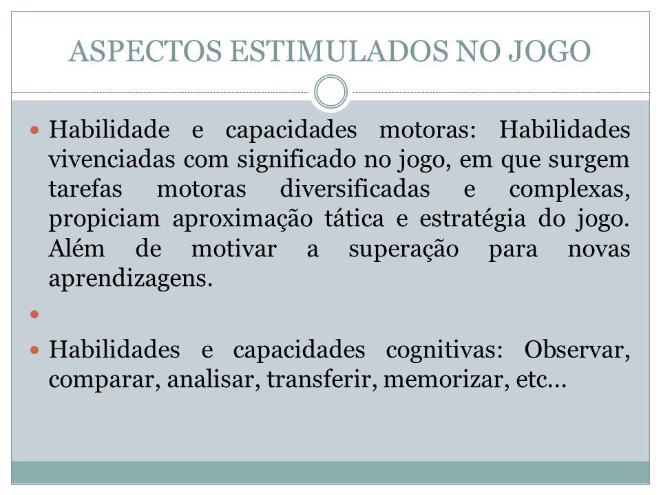 ASPECTOS ESTIMULADOS NO JOGO