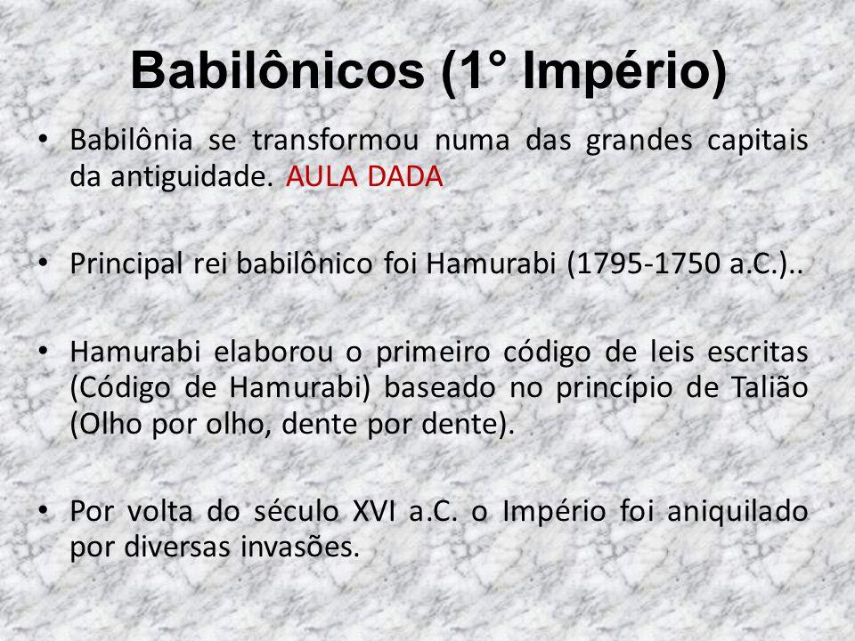Babilônicos (1° Império)
