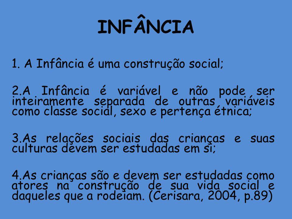 INFÂNCIA 1. A Infância é uma construção social;