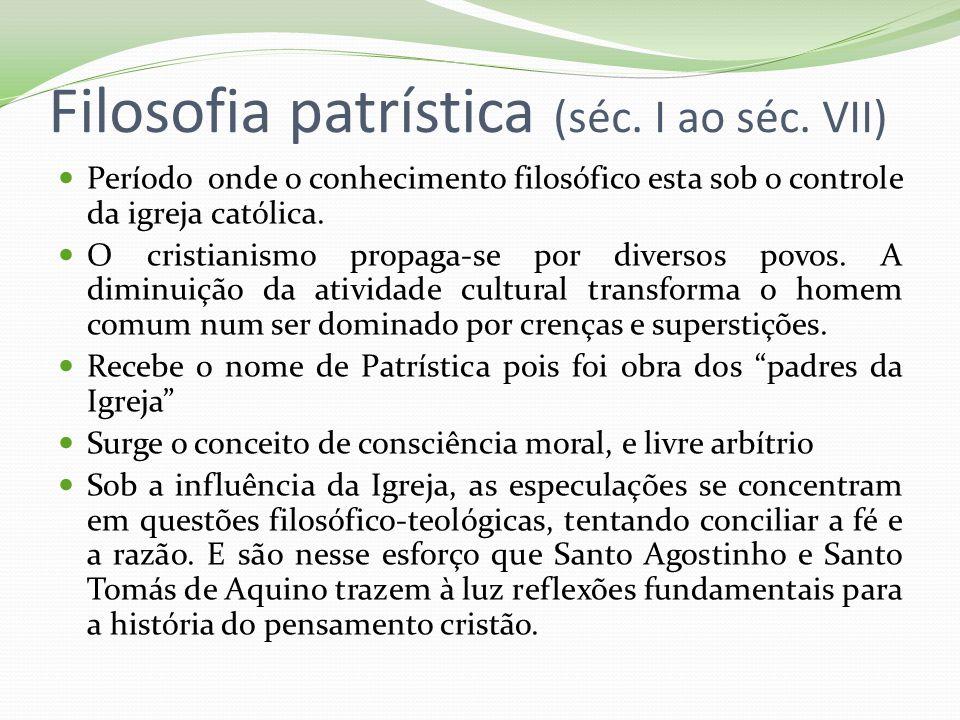 Filosofia patrística (séc. I ao séc. VII)