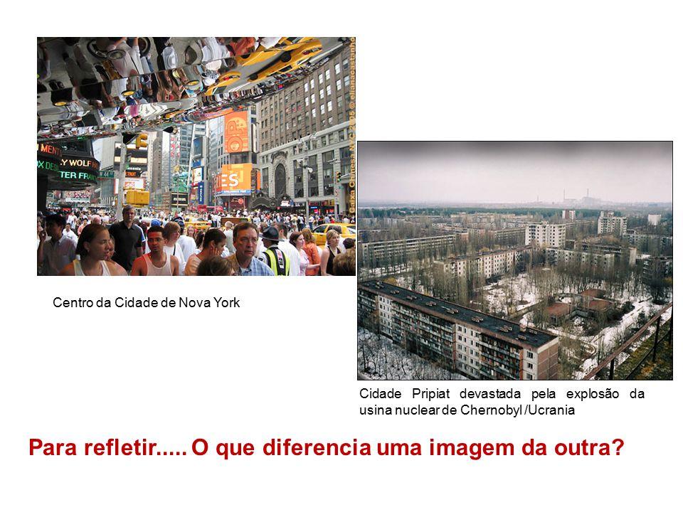 Para refletir..... O que diferencia uma imagem da outra