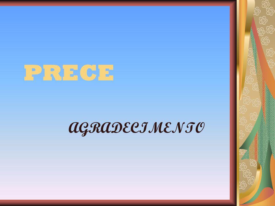 PRECE AGRADECIMENTO