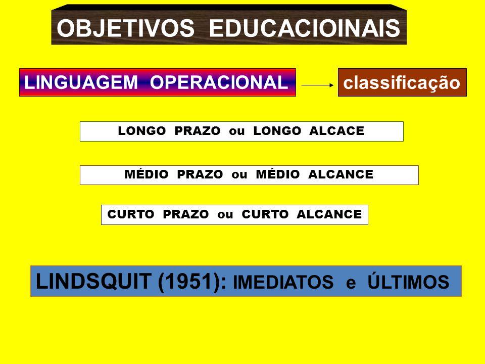 OBJETIVOS EDUCACIOINAIS