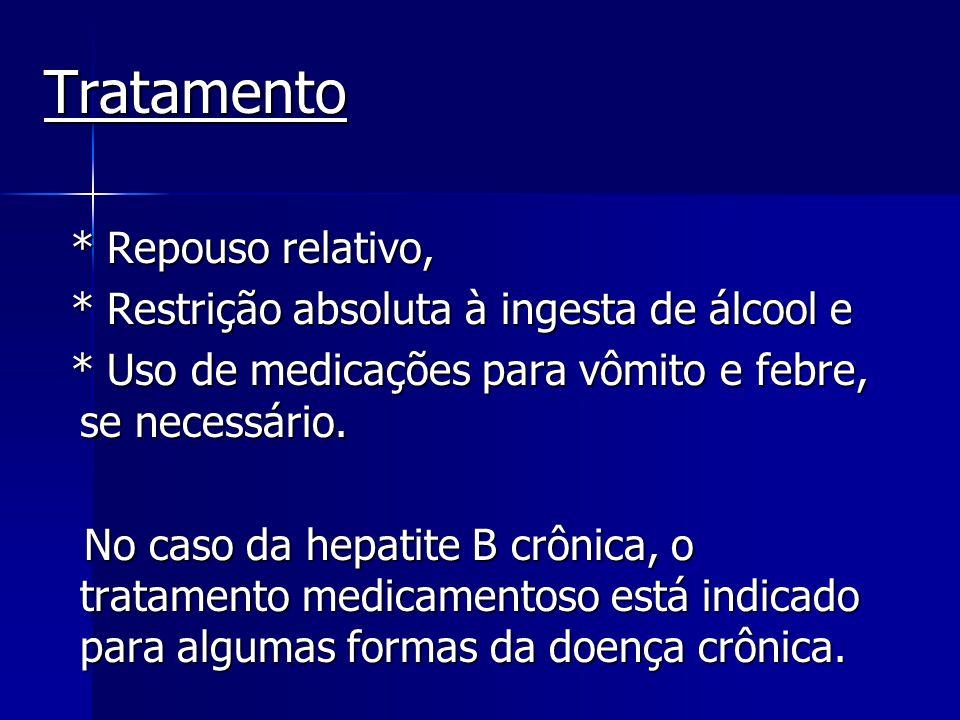 Tratamento * Repouso relativo,
