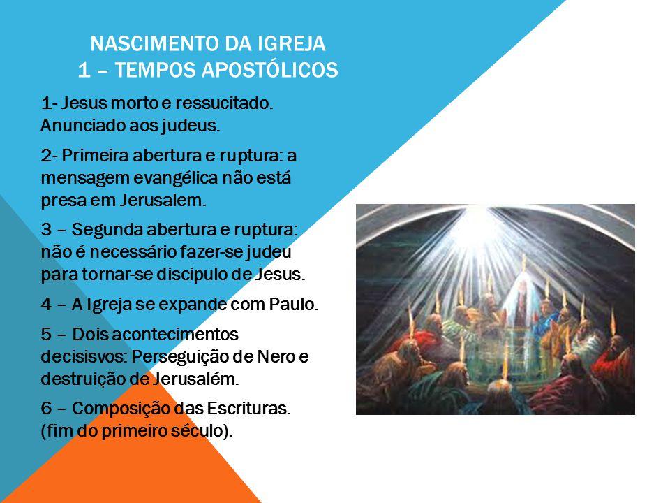 Nascimento da Igreja 1 – Tempos Apostólicos