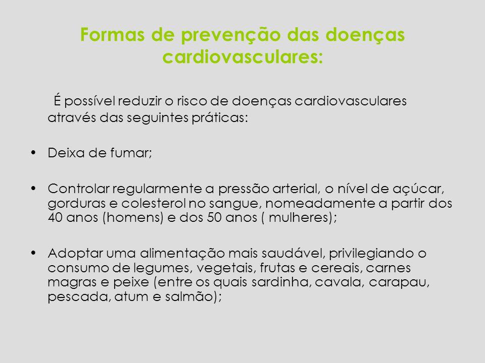 Formas de prevenção das doenças cardiovasculares: