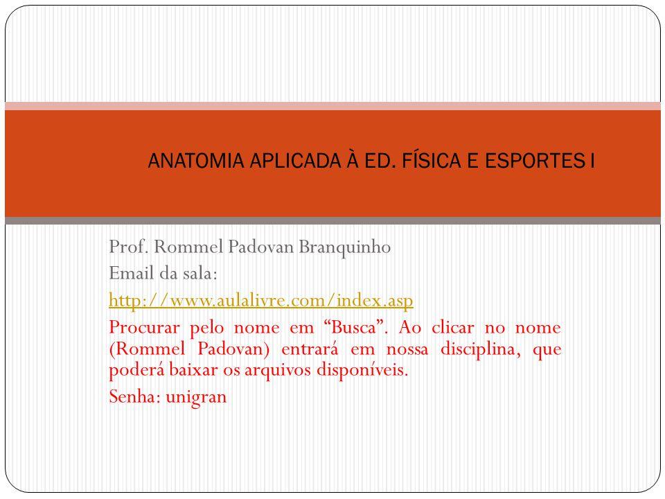 ANATOMIA APLICADA À ED. FÍSICA E ESPORTES I