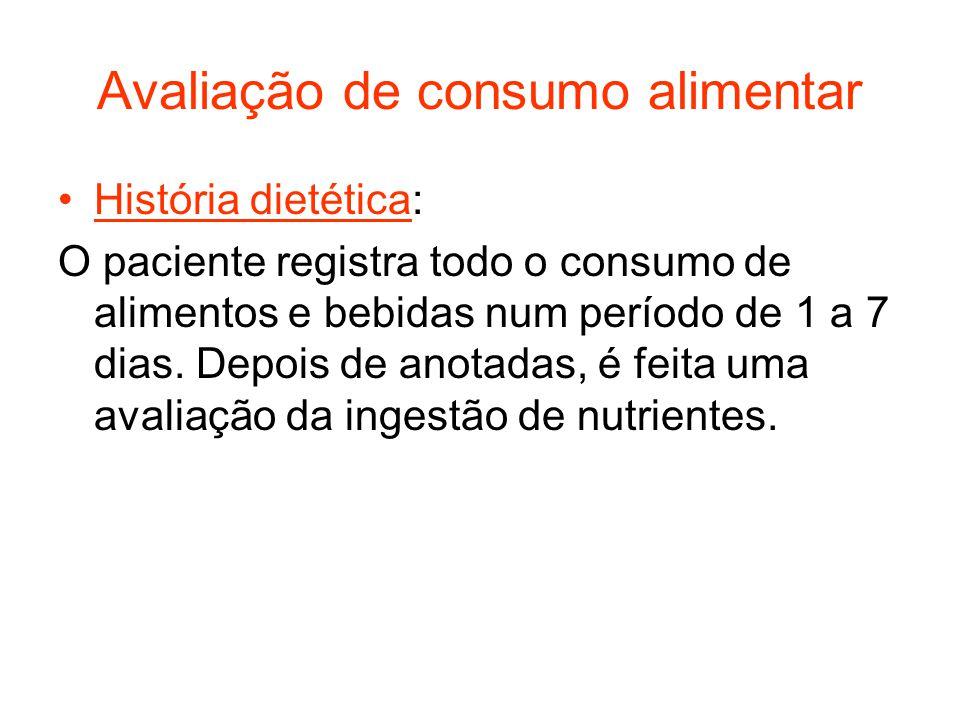 Avaliação de consumo alimentar