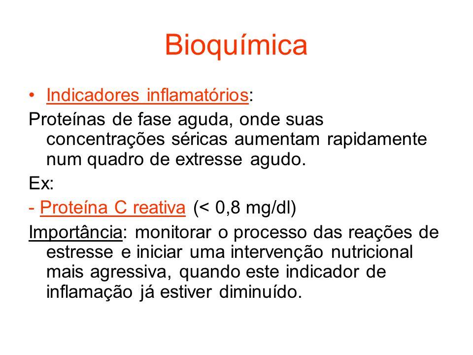 Bioquímica Indicadores inflamatórios: