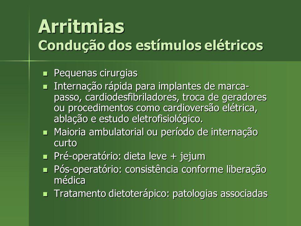 Arritmias Condução dos estímulos elétricos