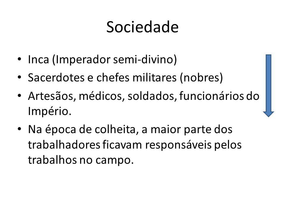 Sociedade Inca (Imperador semi-divino)