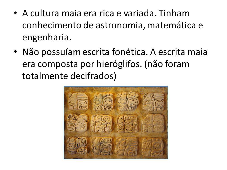 A cultura maia era rica e variada