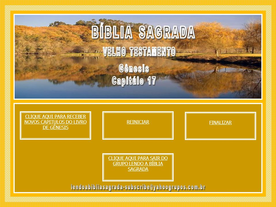 BÍBLIA SAGRADA Gênesis Capitúlo 17 VELHO TESTAMENTO
