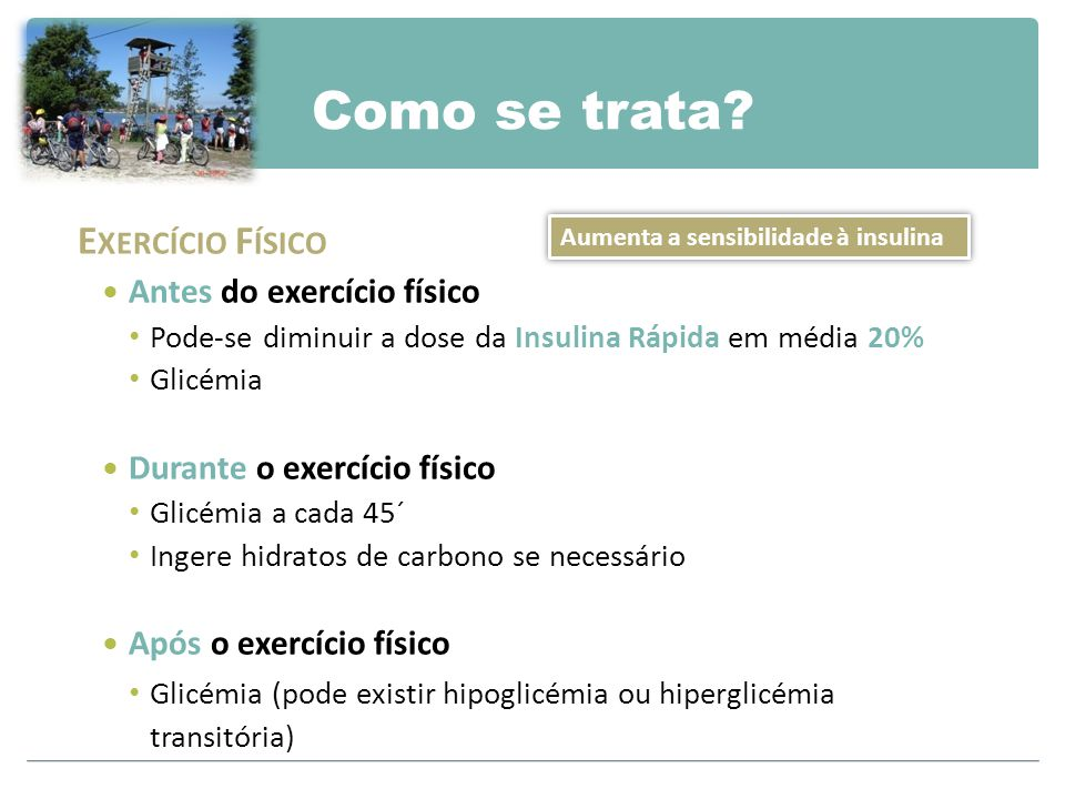 Como se trata Exercício Físico Antes do exercício físico