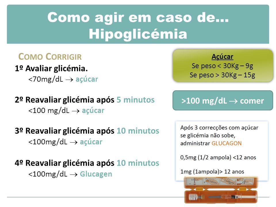 Como agir em caso de… Hipoglicémia