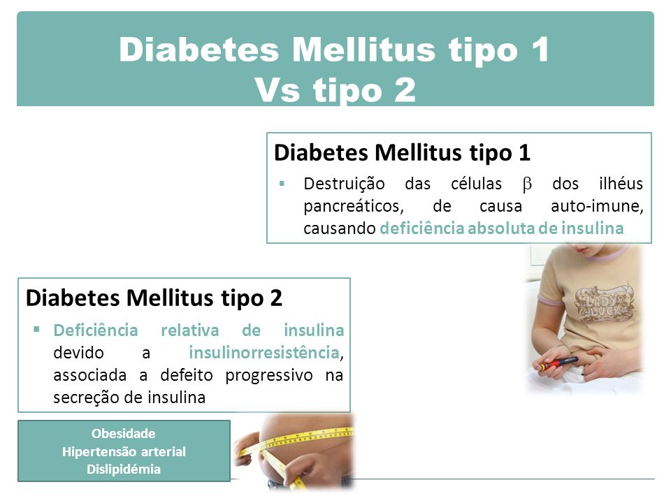 Diabetes Mellitus tipo 1 Vs tipo 2