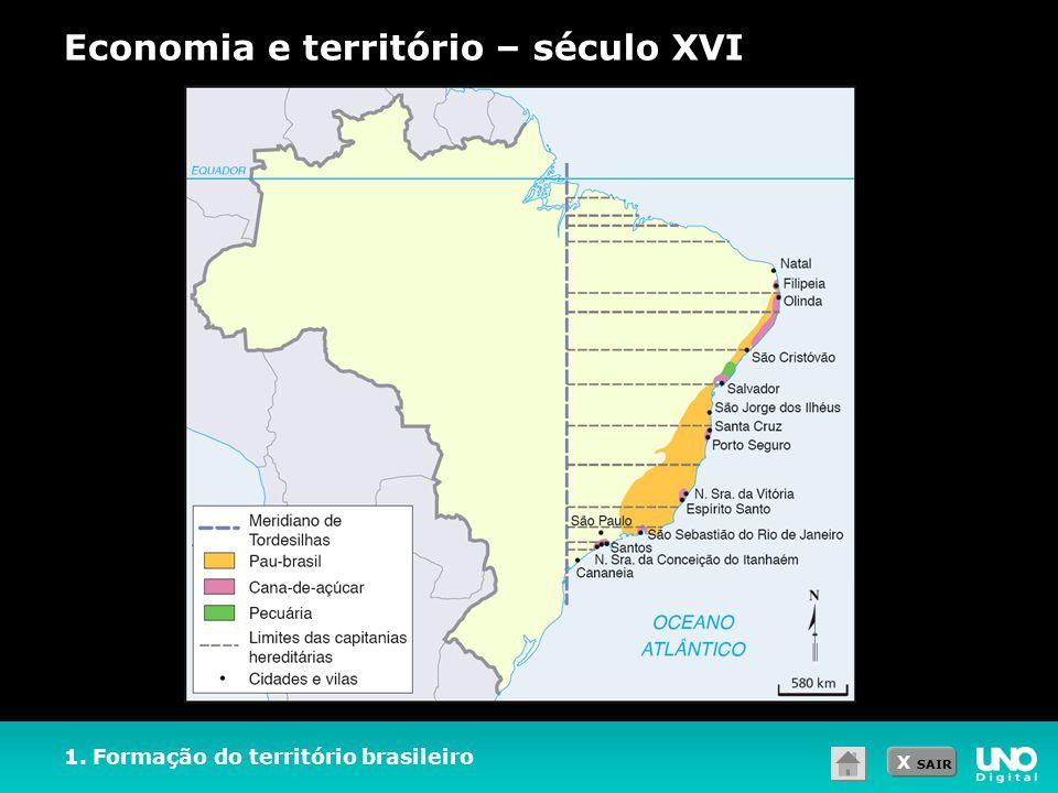 Economia e território – século XVI