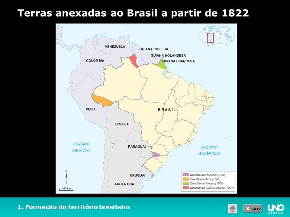 Terras anexadas ao Brasil a partir de 1822