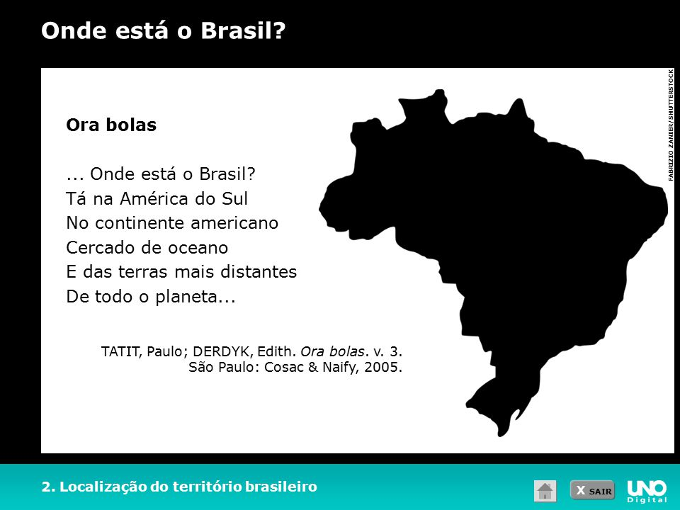 Onde está o Brasil Ora bolas ... Onde está o Brasil