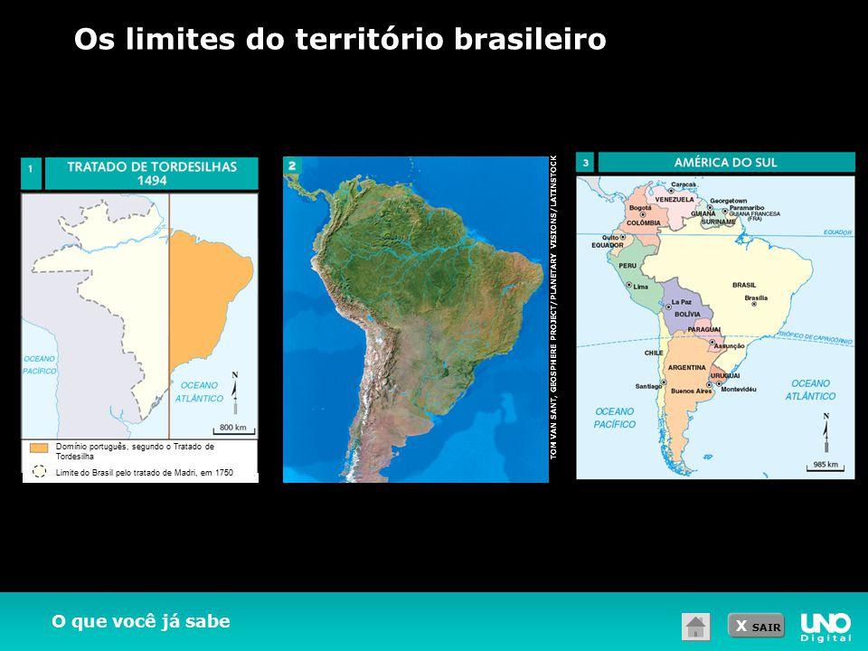 Os limites do território brasileiro