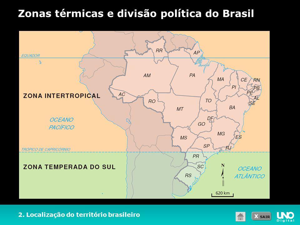 Zonas térmicas e divisão política do Brasil