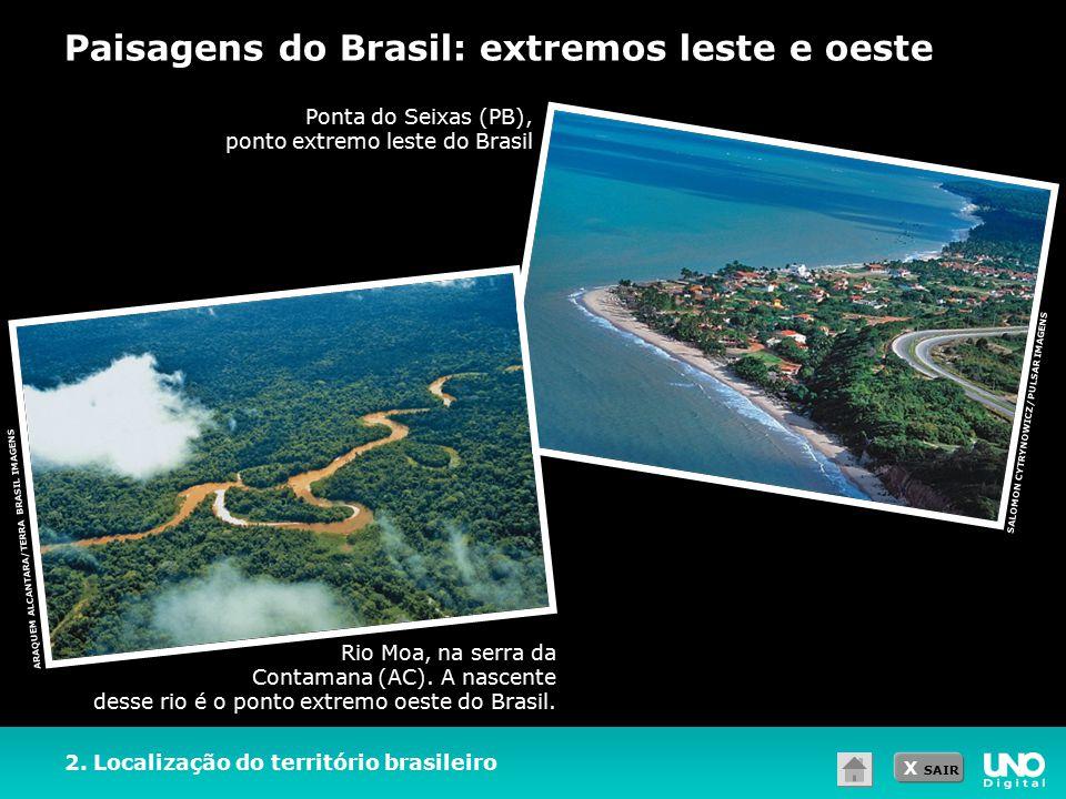 Paisagens do Brasil: extremos leste e oeste
