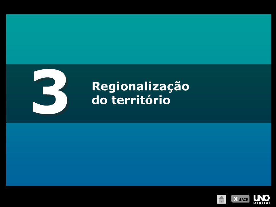 3 Regionalização do território X SAIR