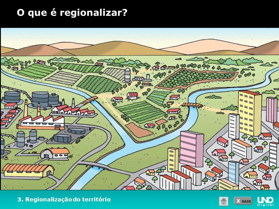 O que é regionalizar 3. Regionalização do território