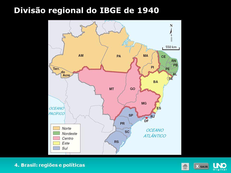 Divisão regional do IBGE de 1940