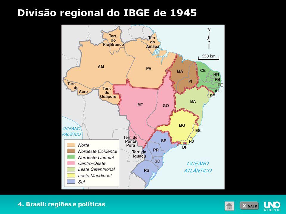 Divisão regional do IBGE de 1945