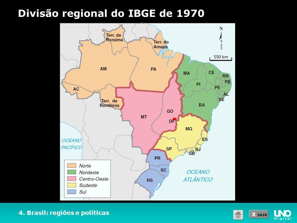 Divisão regional do IBGE de 1970