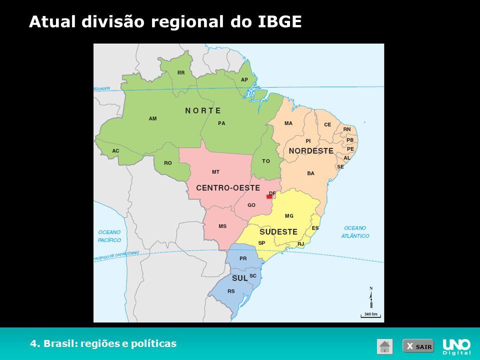 Atual divisão regional do IBGE