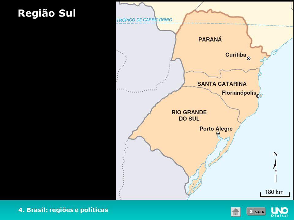 Região Sul 4. Brasil: regiões e políticas
