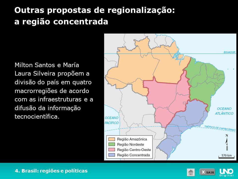 Outras propostas de regionalização: a região concentrada