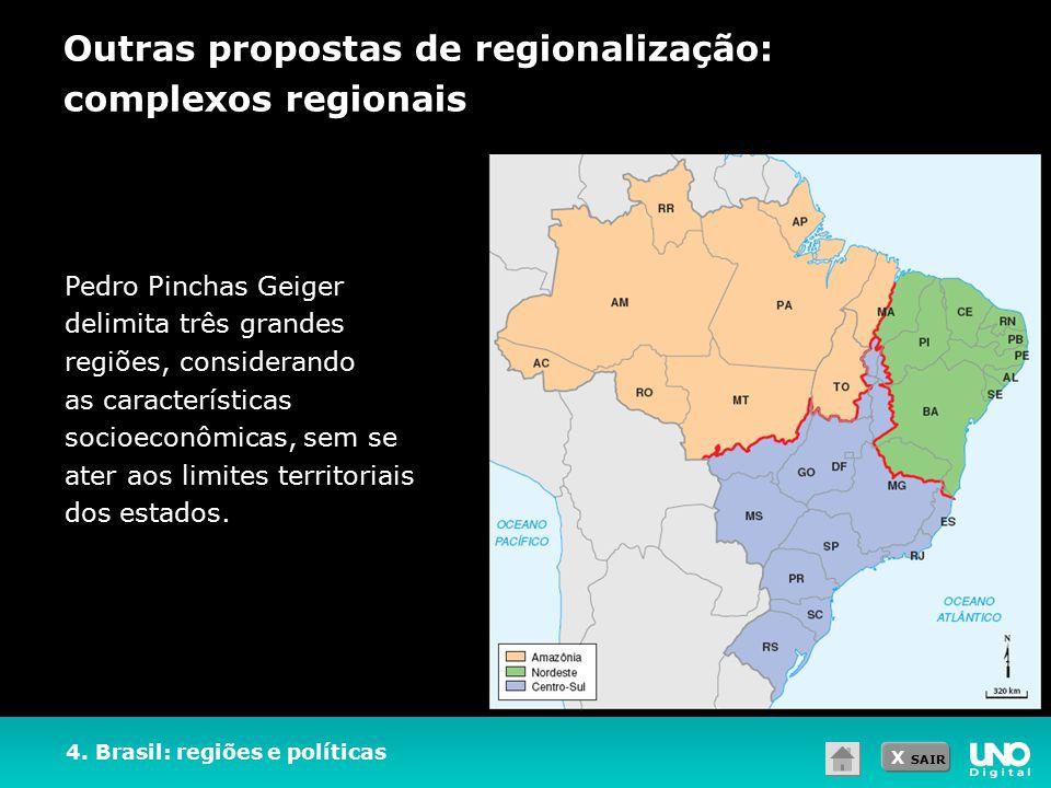 Outras propostas de regionalização: complexos regionais