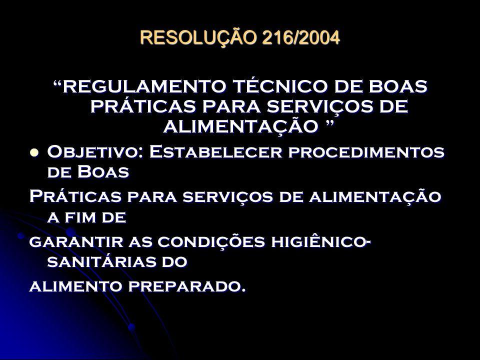REGULAMENTO TÉCNICO DE BOAS PRÁTICAS PARA SERVIÇOS DE ALIMENTAÇÃO