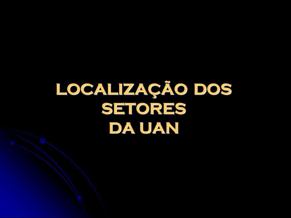 LOCALIZAÇÃO DOS SETORES DA UAN